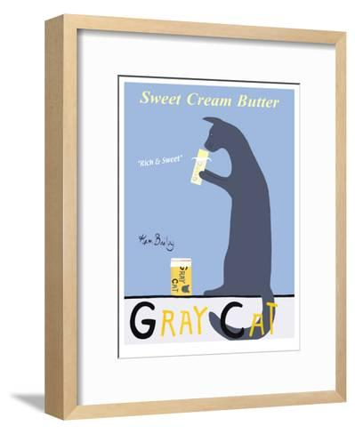 Gray Cat-Ken Bailey-Framed Art Print
