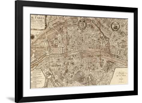 Plan de la Ville de Paris, 1715-Nicolas De Fer-Framed Art Print