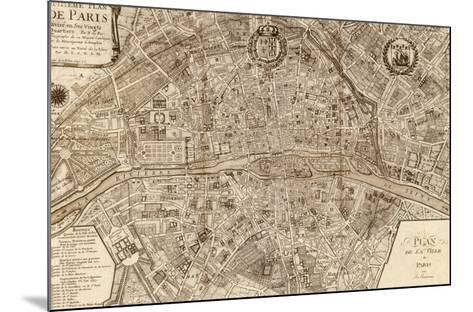 Plan de la Ville de Paris, 1715-Nicolas De Fer-Mounted Art Print