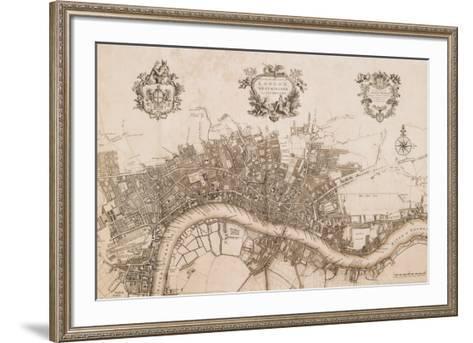 Plan of the City of London, 1720-John Stow-Framed Art Print