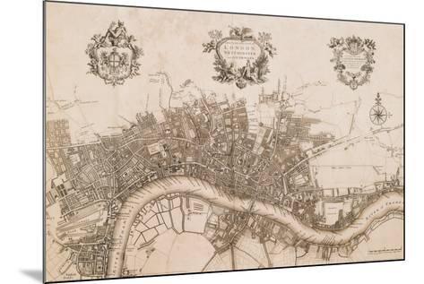 Plan of the City of London, 1720-John Stow-Mounted Art Print