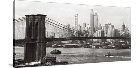 Lower Manhattan and the Brooklyn Bridge, c.1937--Stretched Canvas Print