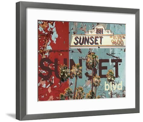 New Sunset Blvd-Mj Lew-Framed Art Print