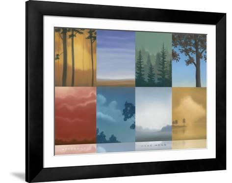 Trees and Misty-Deac Mong-Framed Art Print