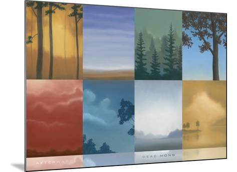 Trees and Misty-Deac Mong-Mounted Art Print