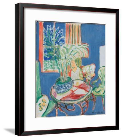 Petit Interieur en Bleu, c.1947-Henri Matisse-Framed Art Print