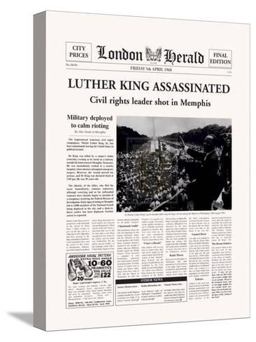 Luther King Assassinated-The Vintage Collection-Stretched Canvas Print