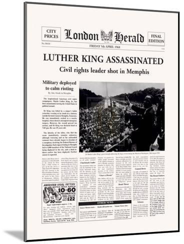 Luther King Assassinated-The Vintage Collection-Mounted Art Print