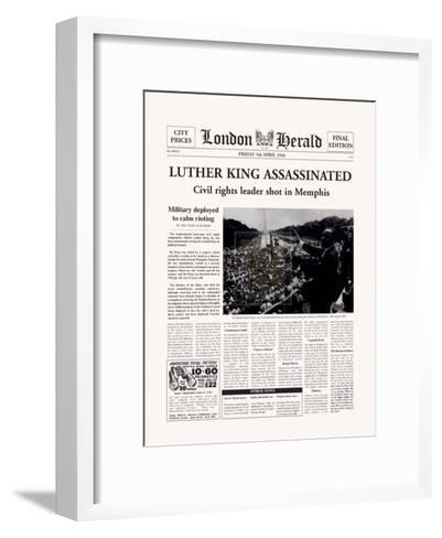 Luther King Assassinated-The Vintage Collection-Framed Art Print