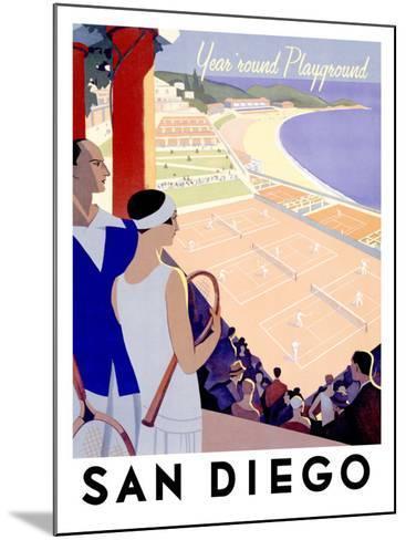 Year Round Playground, San Diego--Mounted Giclee Print