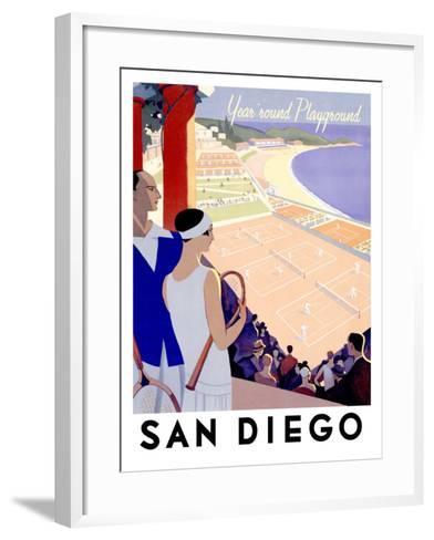 Year Round Playground, San Diego--Framed Art Print
