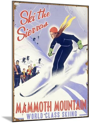 Mammoth Mountain, Ski the Sierras--Mounted Giclee Print