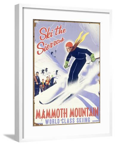 Mammoth Mountain, Ski the Sierras--Framed Art Print