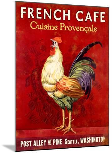 French Cafe, Seattle, Washington--Mounted Giclee Print