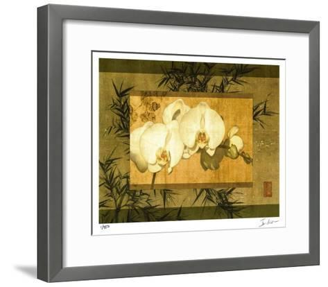 Bamboo & Orchids II-Ives Mccoll-Framed Art Print