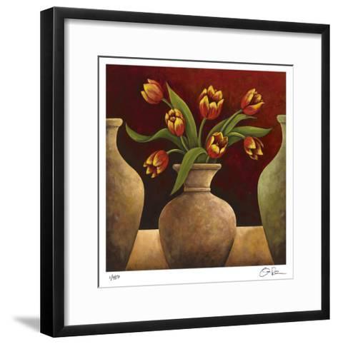 Red Tulips-Georgia Rene-Framed Art Print