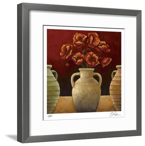 Red Poppies-Georgia Rene-Framed Art Print