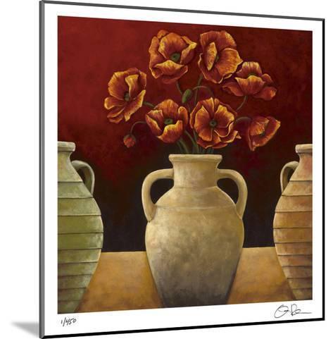 Red Poppies-Georgia Rene-Mounted Giclee Print