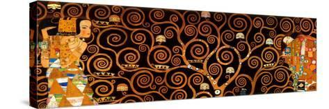 The Tree of Life, Stoclet Frieze, c.1909 (darkened detail)-Gustav Klimt-Stretched Canvas Print