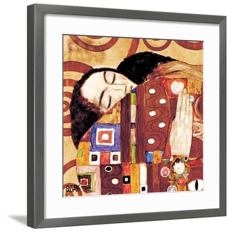Fulfillment, Stoclet Frieze, c.1909 (detail)-Gustav Klimt-Framed Art Print