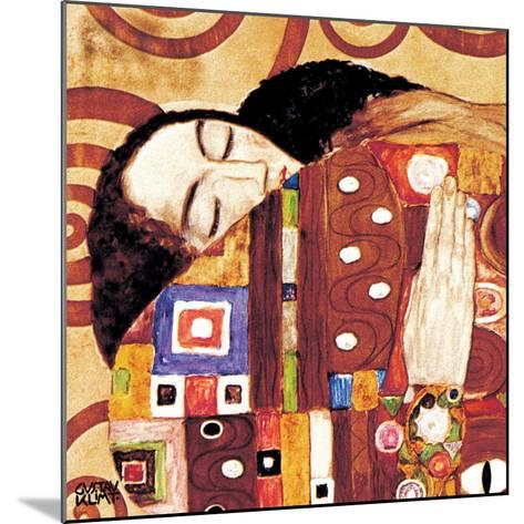 Fulfillment, Stoclet Frieze, c.1909 (detail)-Gustav Klimt-Mounted Art Print