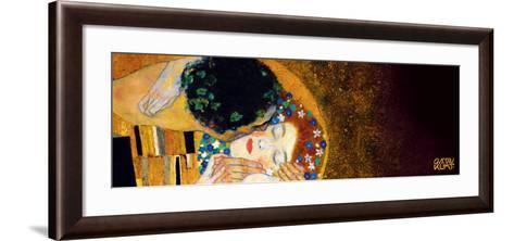 The Kiss, c.1907 (darkened detail)-Gustav Klimt-Framed Art Print