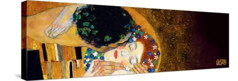 The Kiss, c.1907 (darkened detail)-Gustav Klimt-Stretched Canvas Print