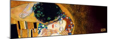 The Kiss, c.1907 (darkened detail)-Gustav Klimt-Mounted Art Print