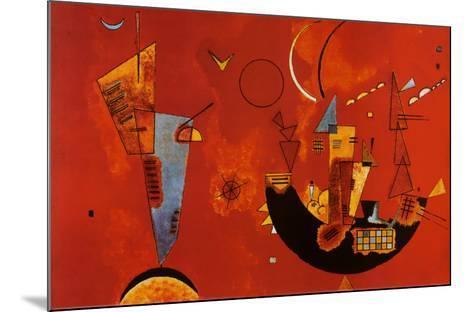 Mit Und Gegen-Wassily Kandinsky-Mounted Poster