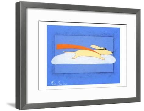 Super Dog-Ken Bailey-Framed Art Print