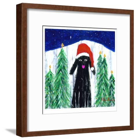 Santa Dog-Ken Bailey-Framed Art Print