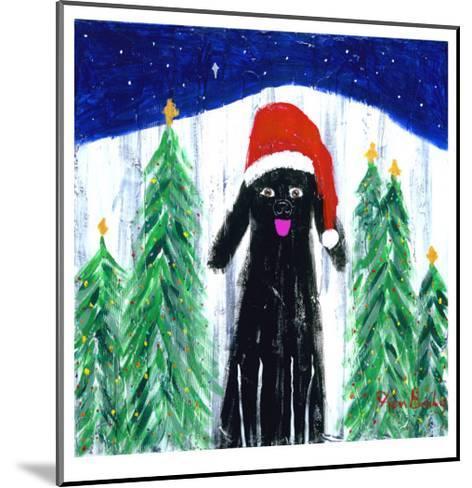 Santa Dog-Ken Bailey-Mounted Collectable Print