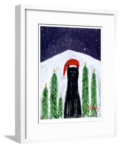 Santa Cat-Ken Bailey-Framed Art Print