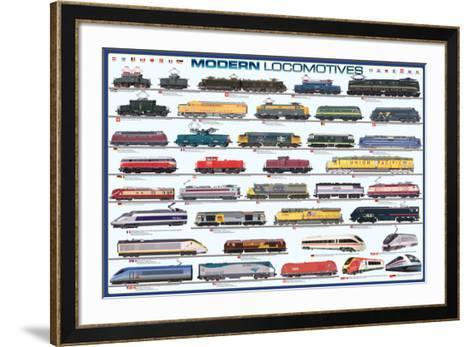 Modern Locomotives--Framed Art Print