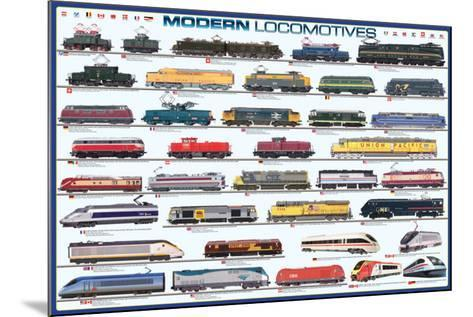 Modern Locomotives--Mounted Poster