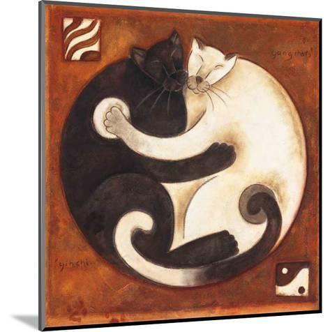 Yin Chi Yang Cats-Aline Gauthier-Mounted Art Print