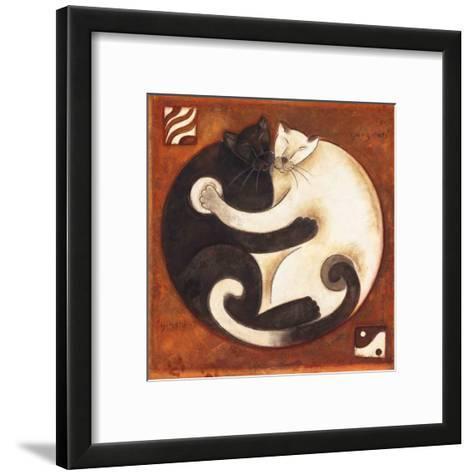 Yin Chi Yang Cats-Aline Gauthier-Framed Art Print