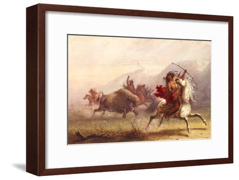 Bison Hunt-Alfred Jacob Miller-Framed Art Print