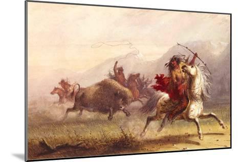 Bison Hunt-Alfred Jacob Miller-Mounted Art Print