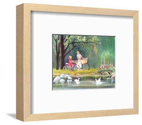 Daydream in the Wood-Armande Langelier-Framed Art Print