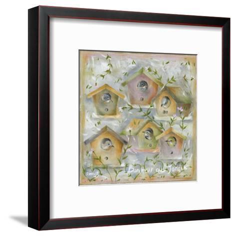 Oiseaux, Bonheur au Jardin-Jo?lle Wolff-Framed Art Print