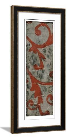 Cinnabar & Stone II-Jennifer Goldberger-Framed Art Print