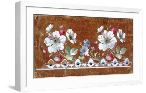 Floral Embroidery Design with Flowers and Strawberries-Jean-Francois Bony-Framed Art Print