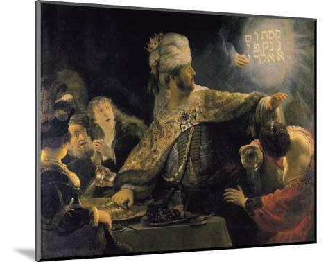 Belshazzar's Feast-Rembrandt van Rijn-Mounted Art Print