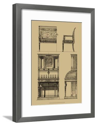 French Empire Furniture I--Framed Art Print