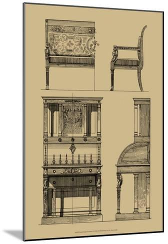 French Empire Furniture I--Mounted Art Print