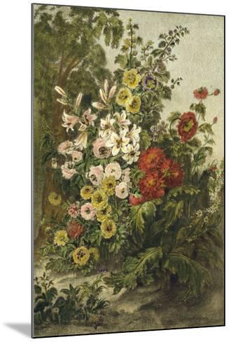 Flower Garden--Mounted Giclee Print