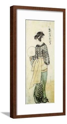 Back View of Ohisa-Kitagawa Utamaro-Framed Art Print