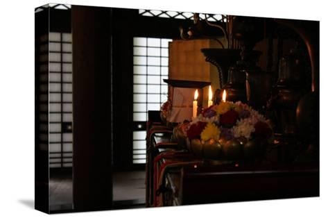 Still Life Inside of Japanese Temple-Ryuji Adachi-Stretched Canvas Print