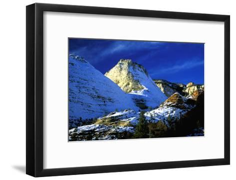 Mountain Snow and Shadows, Zion National Park-Charles Glover-Framed Art Print